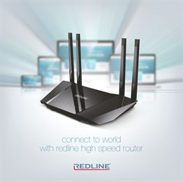 Redline RL-WR1240 AC 1200 Wireless N ADSL2+ Modem Router